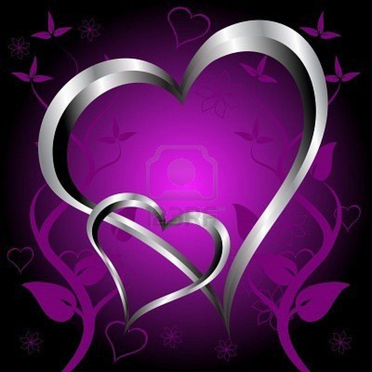 pretty purple hearts