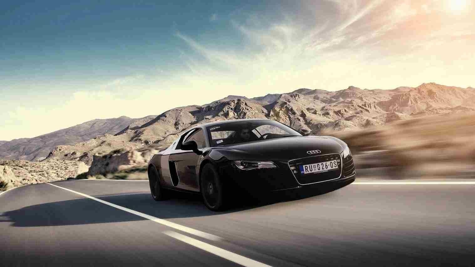preview wallpaper audi, r8, v10, blue, side view 1440×2560. 2015