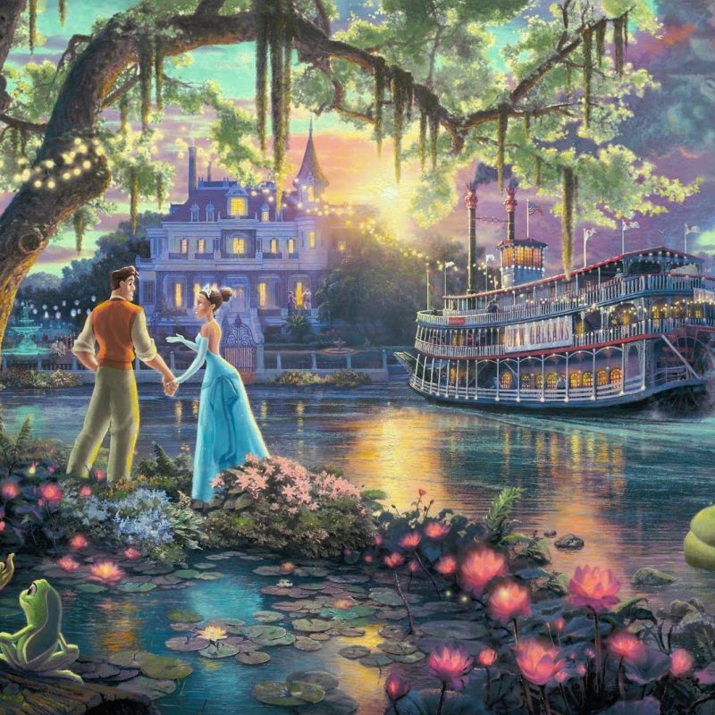 10 Latest Thomas Kinkade Disney Dreams Collection Wallpaper FULL HD 1080p For PC Background 2018 free download princess the frog thomas kinkade large image desktop 800x800