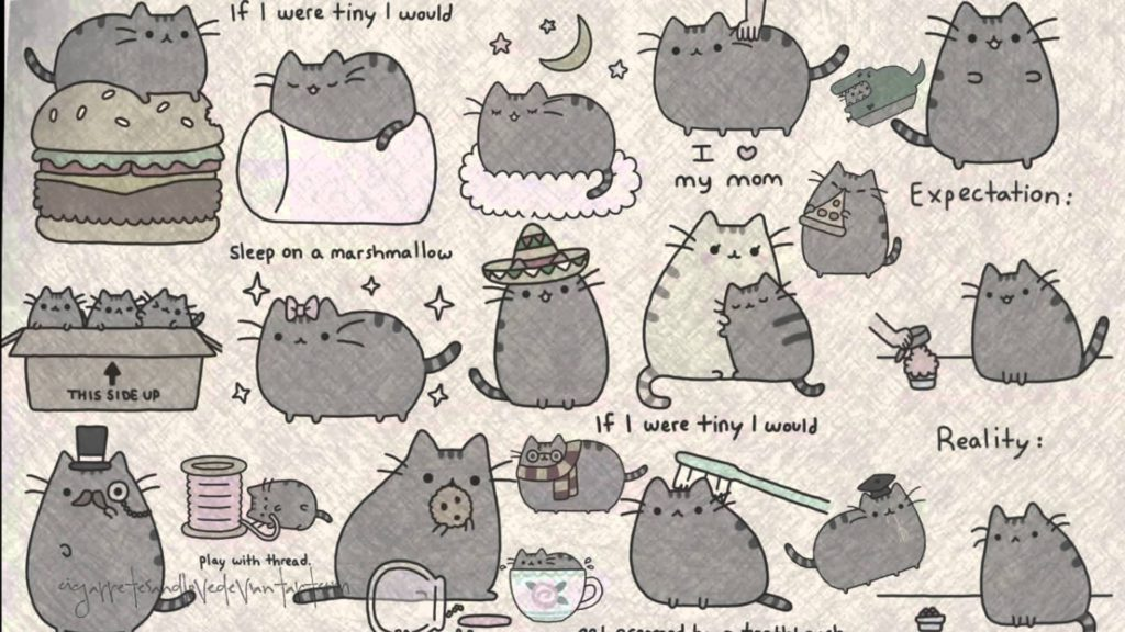 10 Best Pusheen The Cat Wallpaper FULL HD 1920×1080 For PC Background 2020 free download pusheen wallpapers wallpaper cave 1024x576