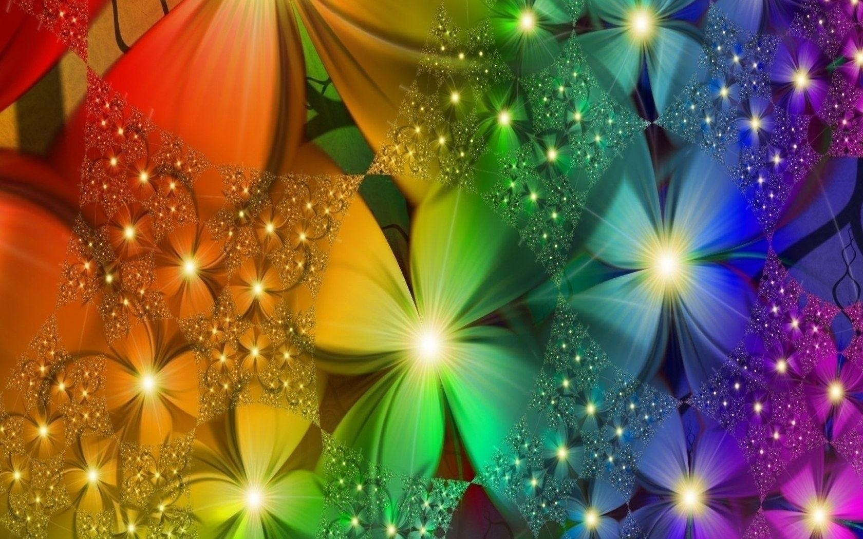 10 Best Rainbow Flower Wallpaper Desktop FULL HD 1920×1080 For PC Background