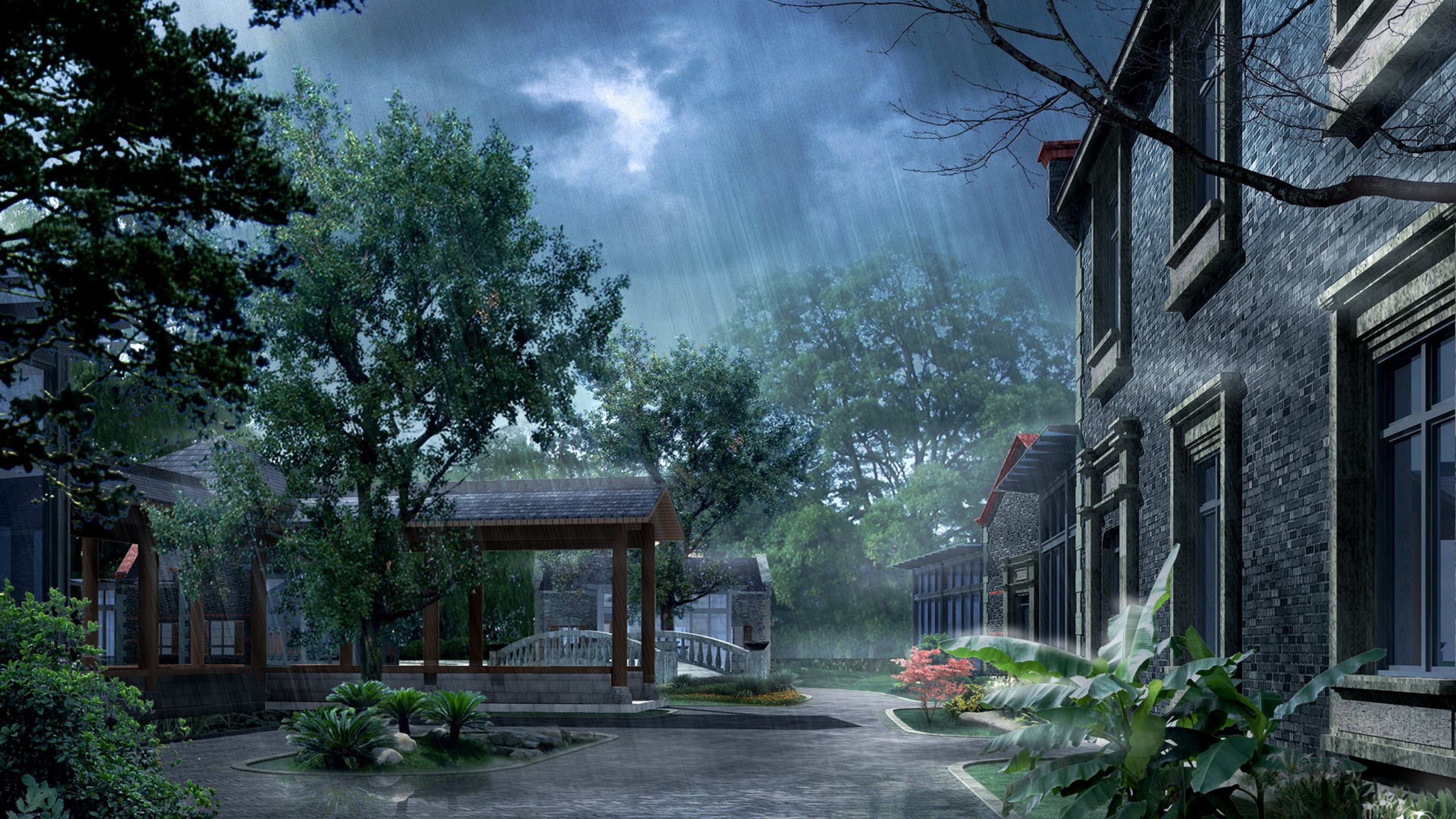 rainy day in japan 3d wallpaper download 3d desktop wallpapers | a