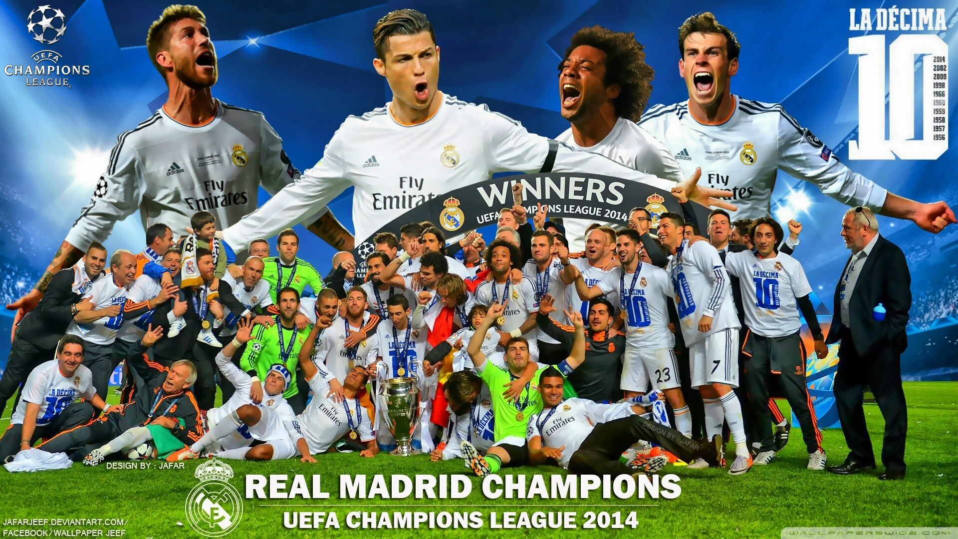 real madrid winners champions league 2014 hd desktop wallpaper