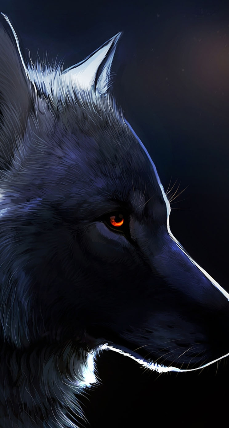 red eyed black wolf | anything art | pinterest | red eyes, wolf and