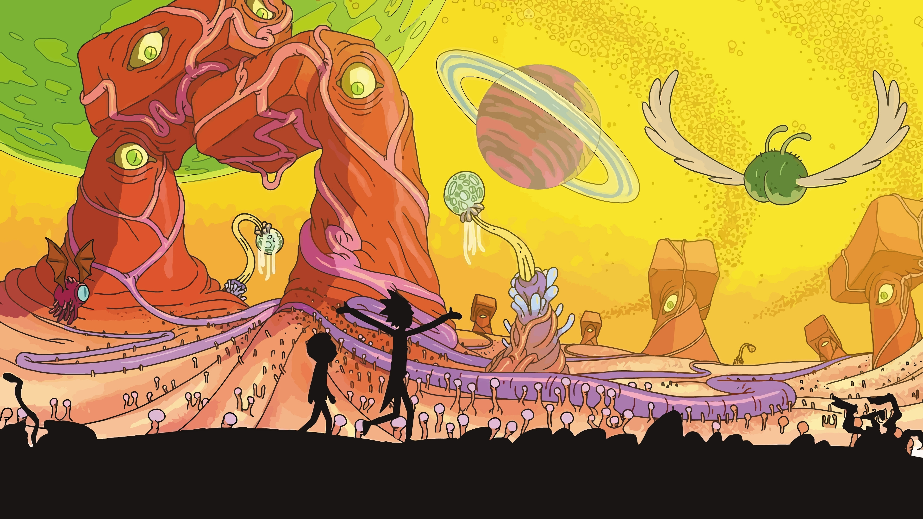 10 Top Rick And Morty Wallpaper 4K FULL HD 1920×1080 For PC Desktop