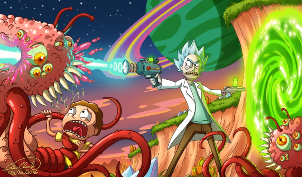 10 Best Trippy Rick And Morty Wallpaper FULL HD 1080p For PC Desktop 2020 free download rick and mortysawuinhaff on deviantart 1024x600