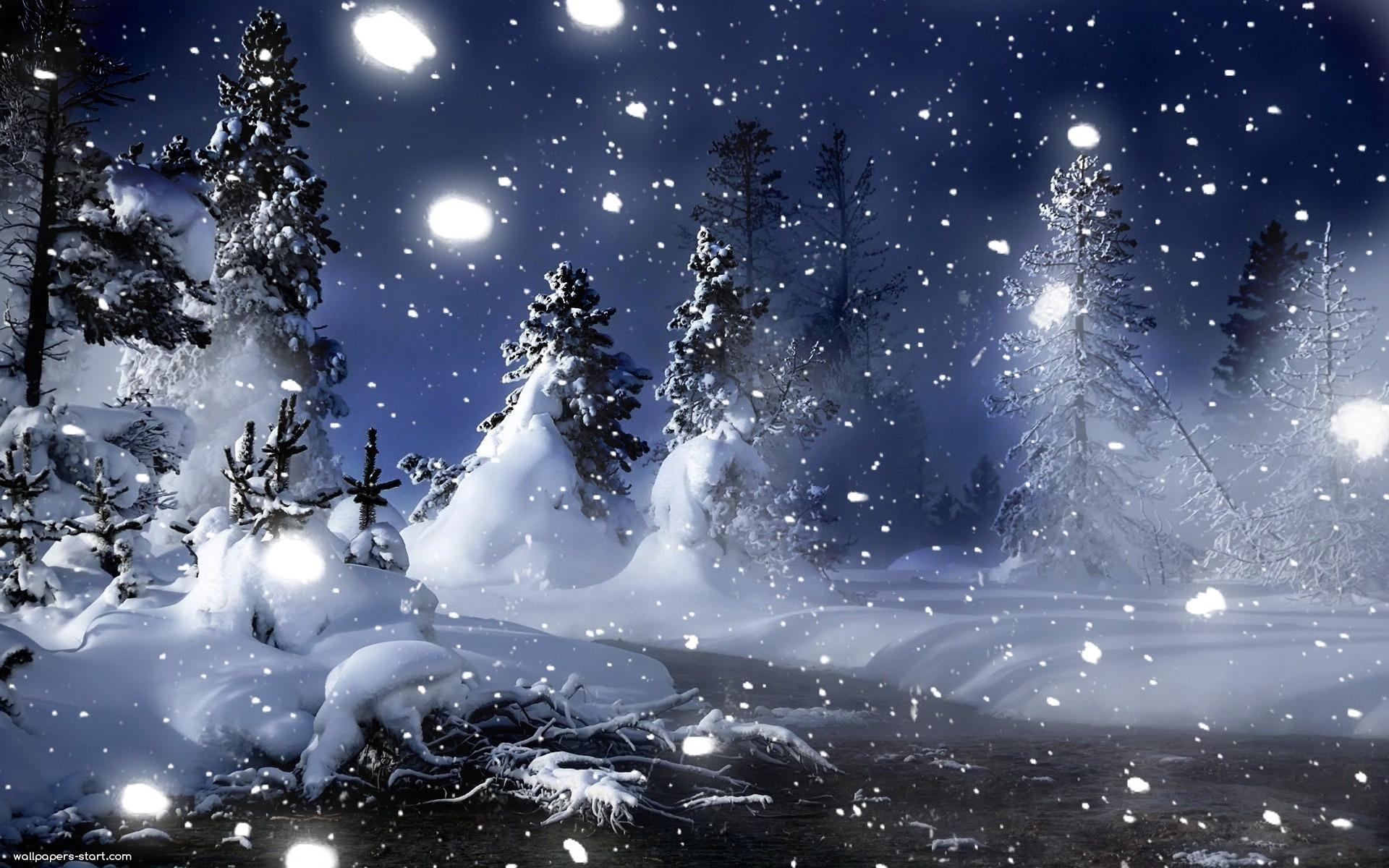 romantic winter night wallpapers mobile » outdoors wallpaper 1080p