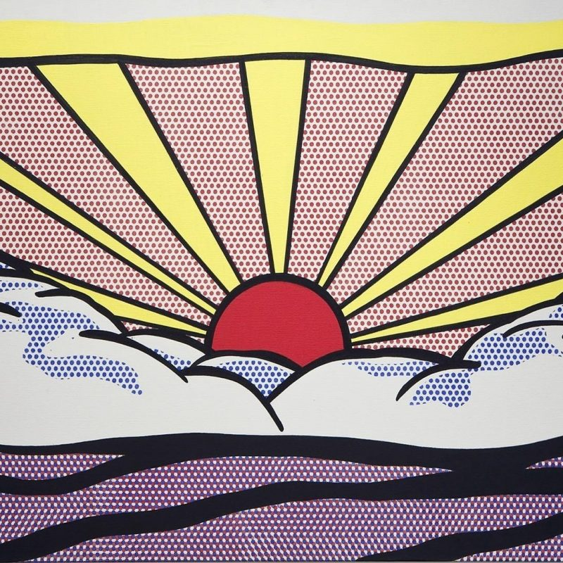 10 Top Pop Art Wall Paper FULL HD 1080p For PC Desktop 2018 free download roy lichtenstein artwork paintings pop art sunrise wallpaper 87626 800x800