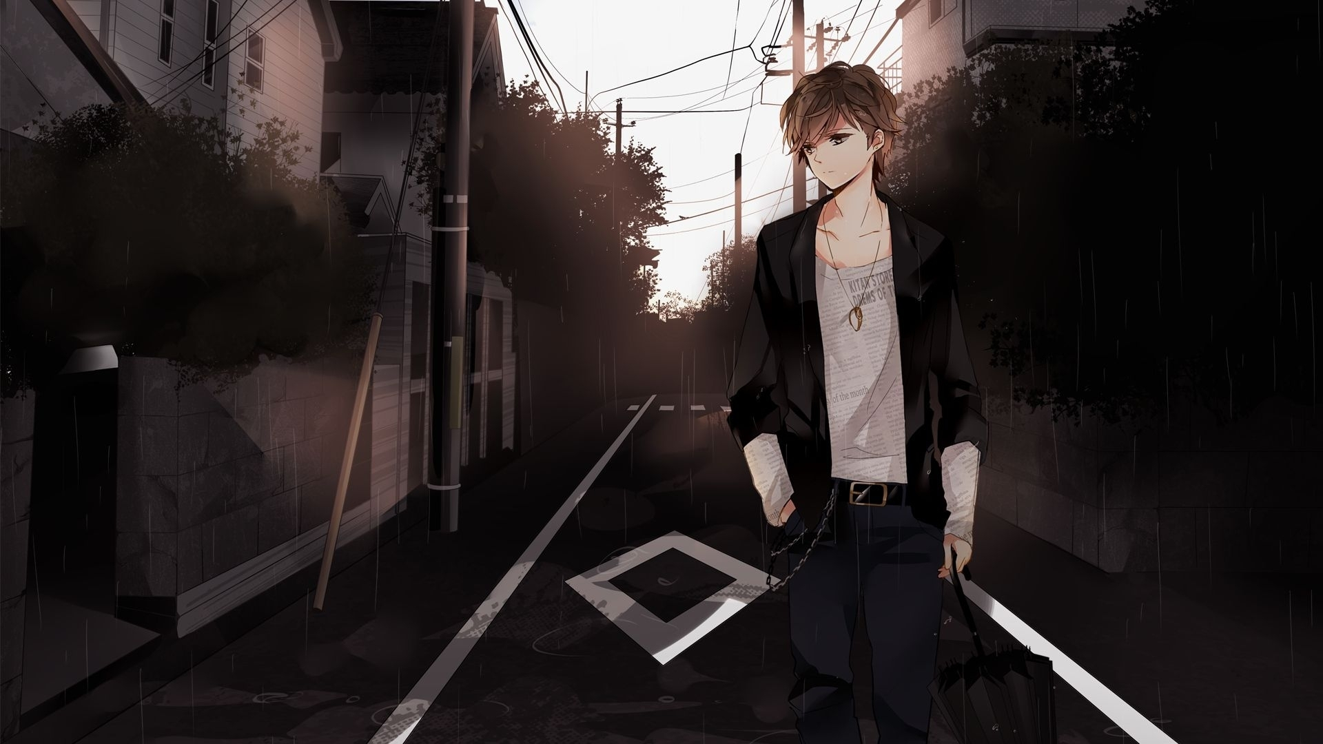 sad anime boy wallpaper hd anime guy wallpapers wallpaper cave