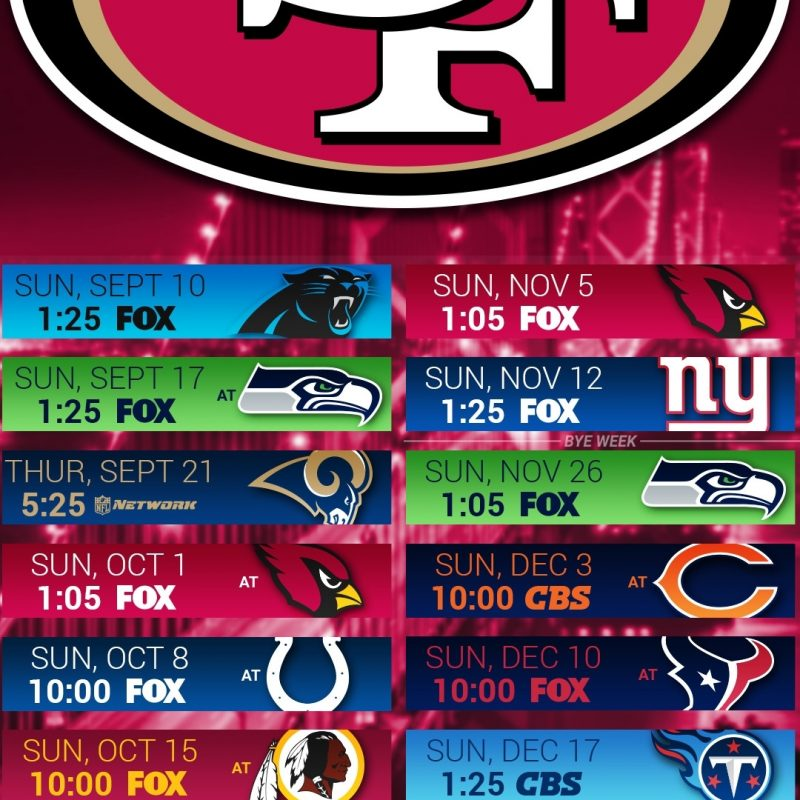10 Top 49Ers 2017 Schedule Wallpaper FULL HD 1080p For PC Background 2018 free download san francisco 49ers screensaver wallpaper 66 images 1 800x800
