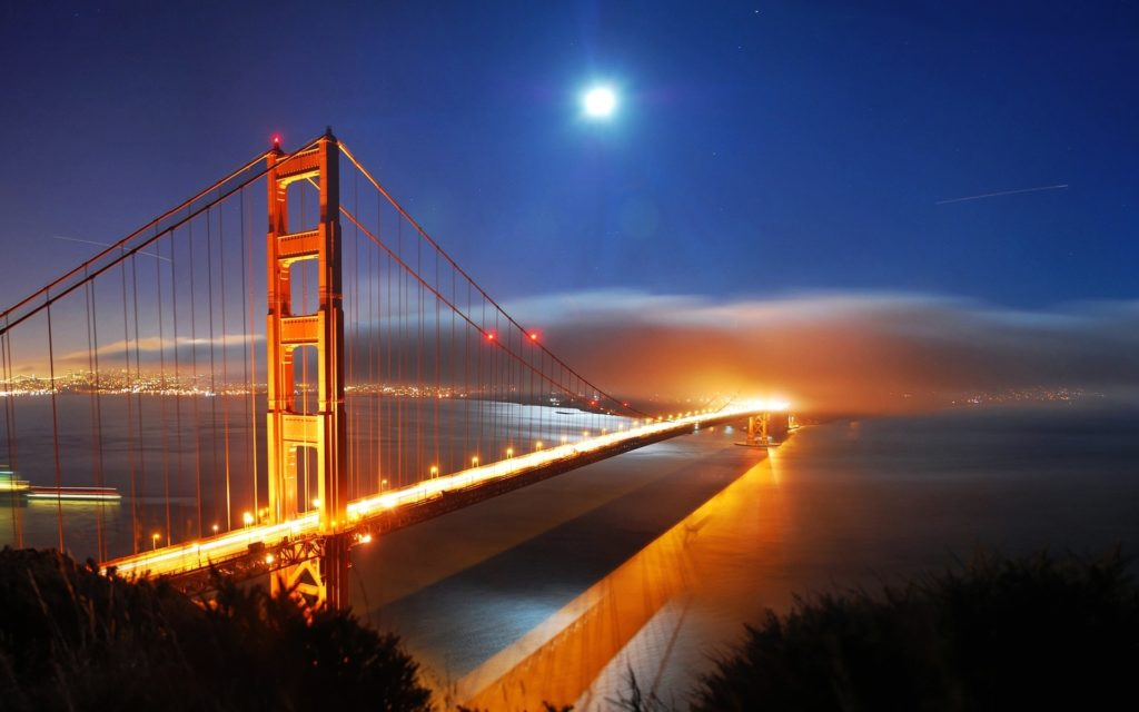 10 Top San Francisco Wallpapers Hd FULL HD 1920×1080 For PC Desktop 2018 free download san francisco bridge night lights wallpapers hd wallpapers id 1024x640