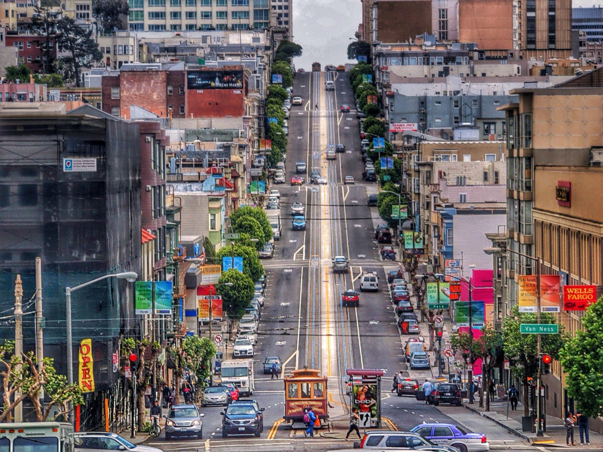 san francisco hilly streets hd wallpaper, background images