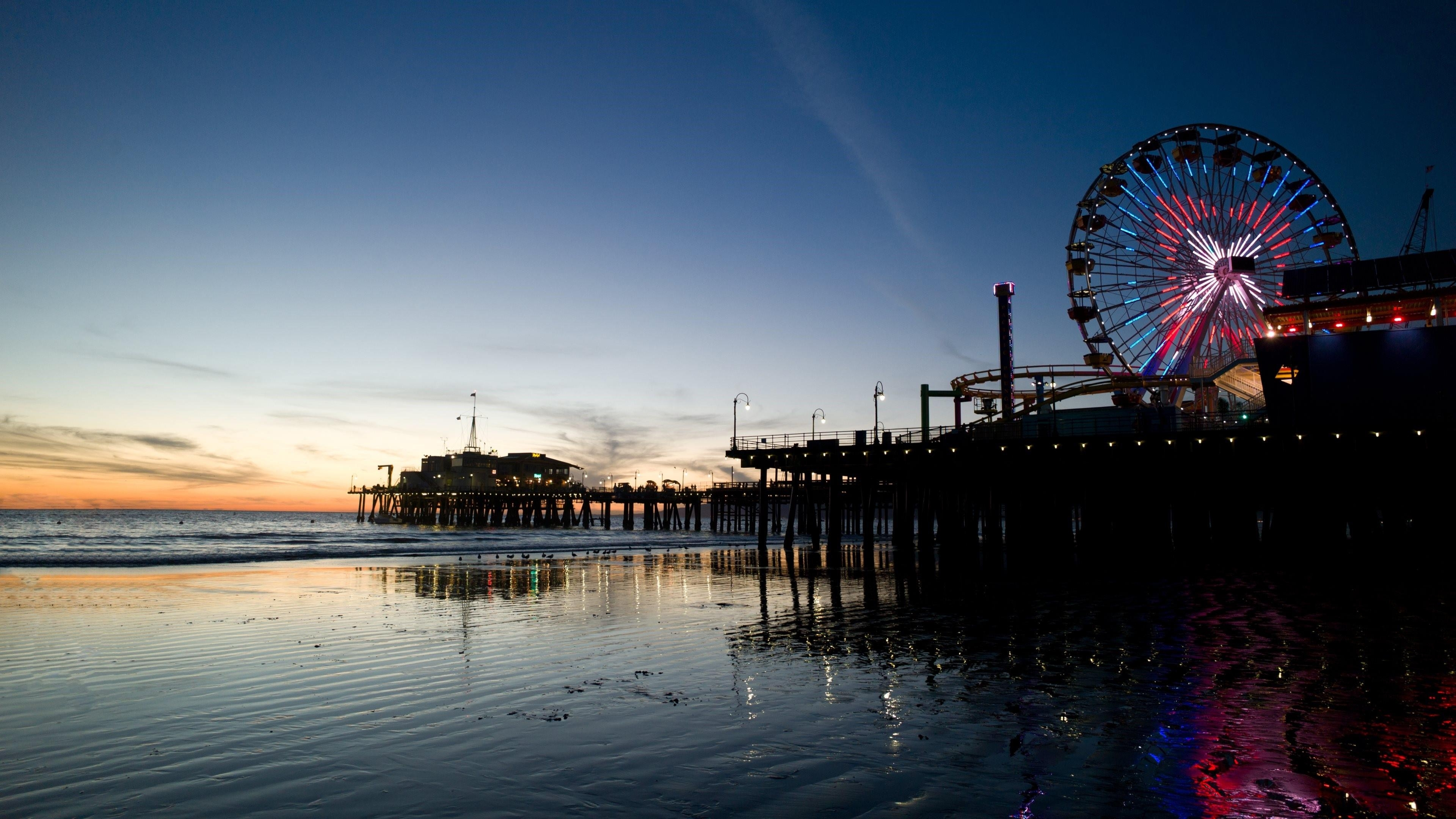 santa monica beach in los angeles, california wallpaper | wallpaper