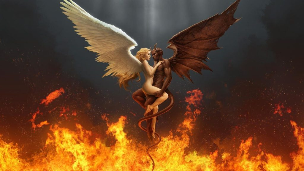 10 Most Popular Angels Vs Demons Wallpaper FULL HD 1920×1080 For PC Background 2018 free download scary demon wallpaper digital art hd fire demon angel 1024x576