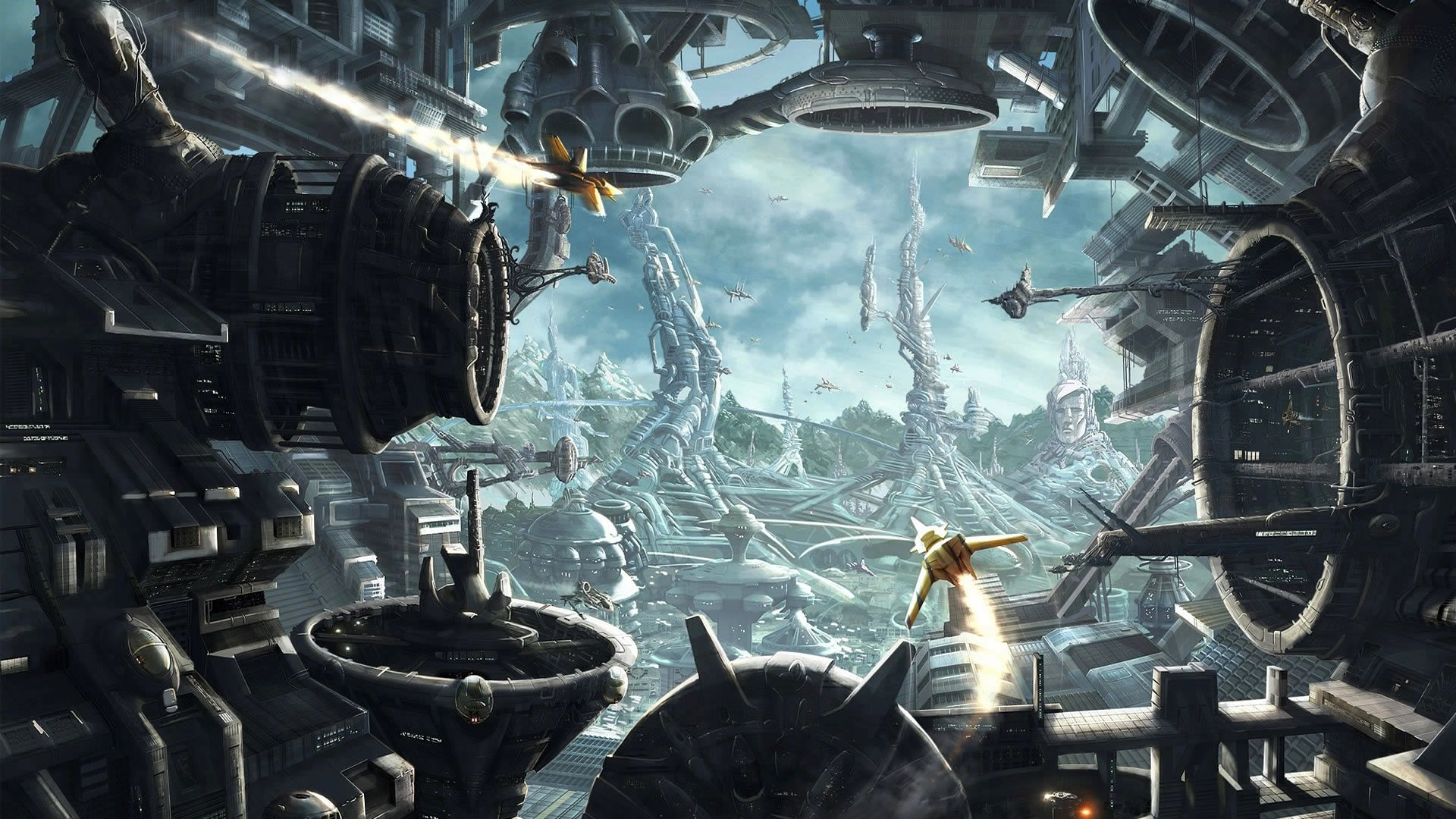 sci-fi spacecraft art | sci-fi wallpaper of the week #9 | fantasy