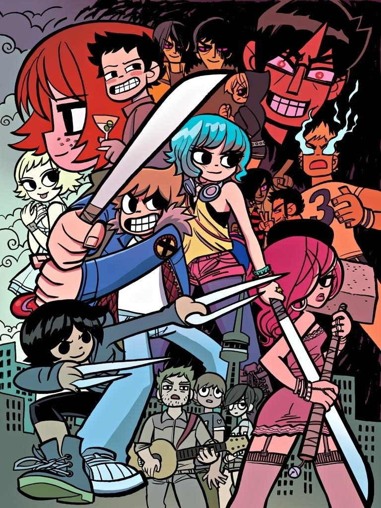 10 Best Scott Pilgrim Phone Wallpaper FULL HD 1080p For PC Desktop 2018 free download scott pilgrim box set posterwhoisrico on deviantart 768x1024