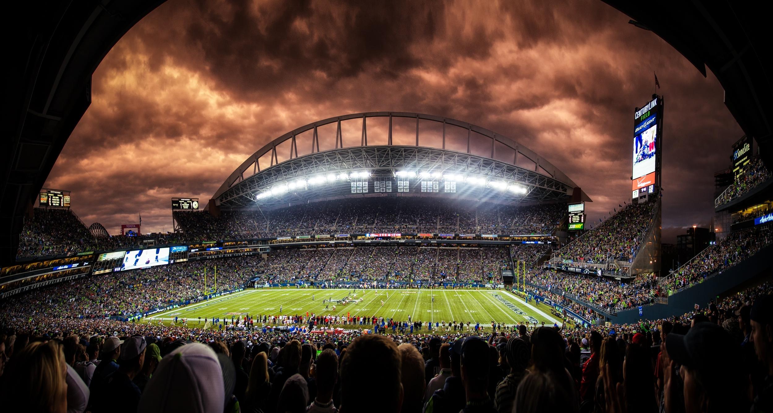 seattle seahawks nfl football qwest stadium. - media file