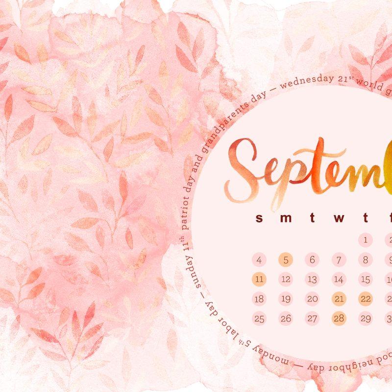 10 New September 2017 Calendar Wallpaper FULL HD 1080p For PC Background 2018 free download september desktop calendar american greetings blog 800x800
