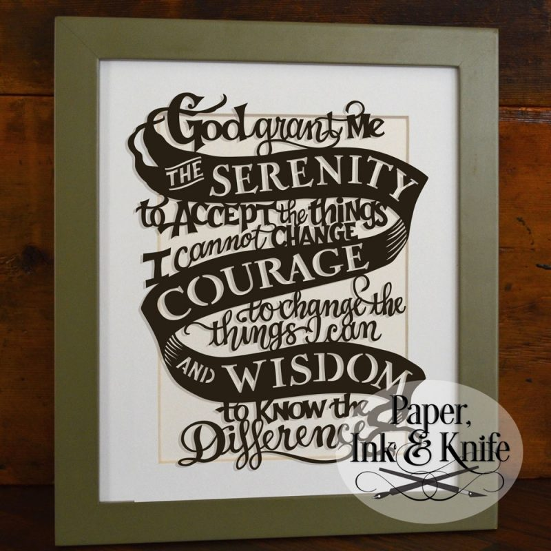 10 Best Prayer Of Serenity Images FULL HD 1920×1080 For PC Desktop 2018 free download serenity prayer papercut template paper ink and knife 800x800