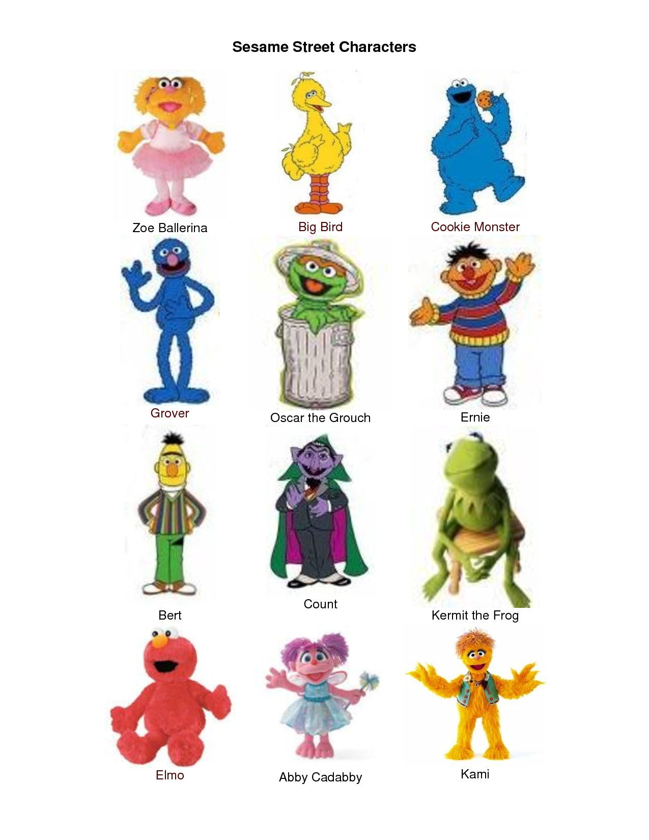sesame street character pics - google search | pieces and parts
