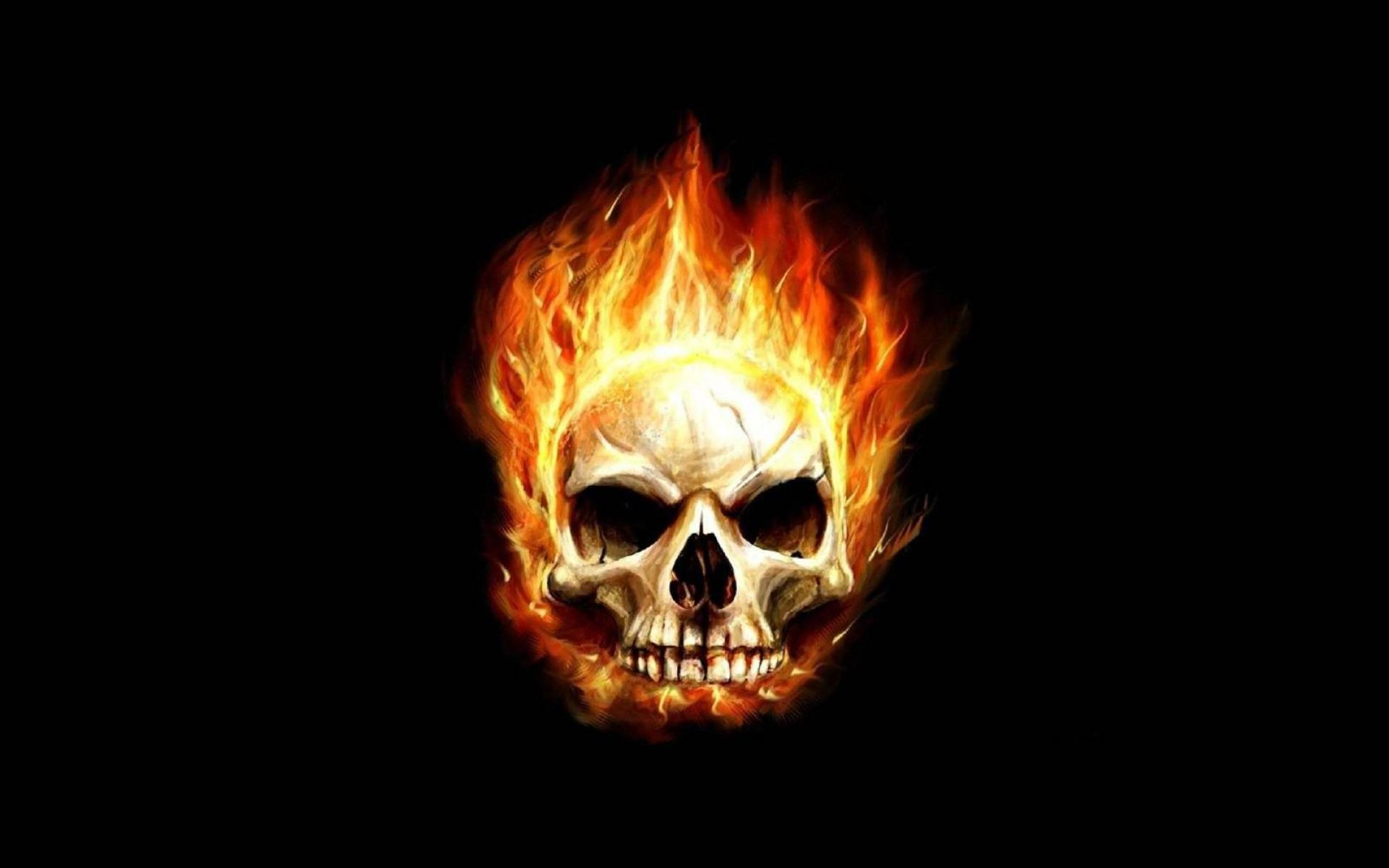 skull fire wallpaper - sf wallpaper
