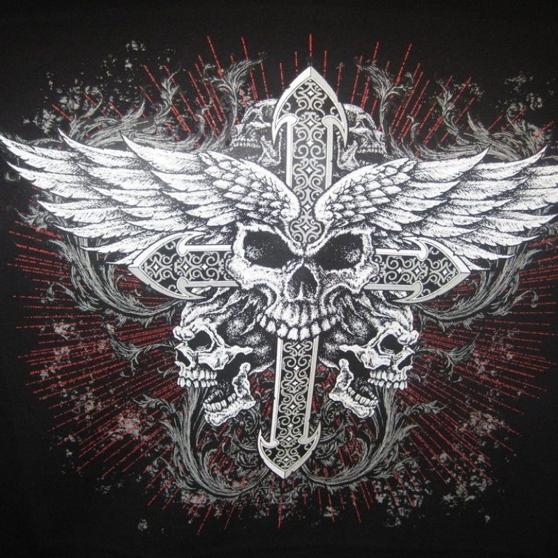 10 Most Popular Skulls And Crosses Wallpaper FULL HD 1080p For PC Background 2018 free download skulls wings cross biker tattoo hoodie mens hanes tattoos 800x800