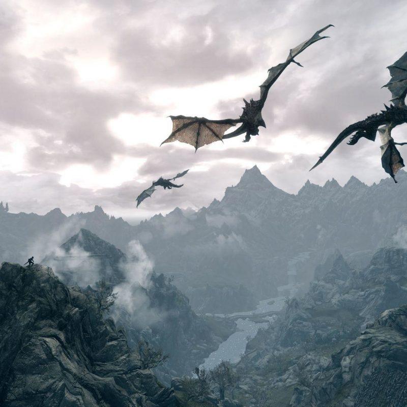 10 New Skyrim Landscape Wallpaper Dragon FULL HD 1080p For PC Desktop 2020 free download skyrim desktop dragon wallpaper 71 images 800x800