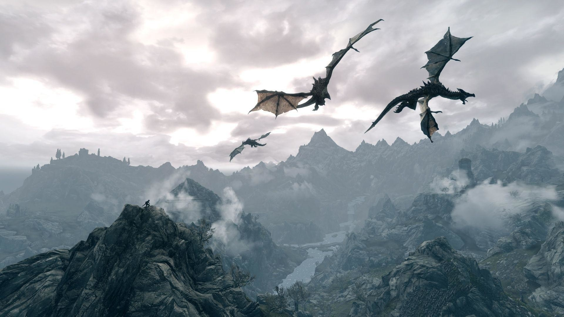 skyrim desktop dragon wallpaper (71+ images)