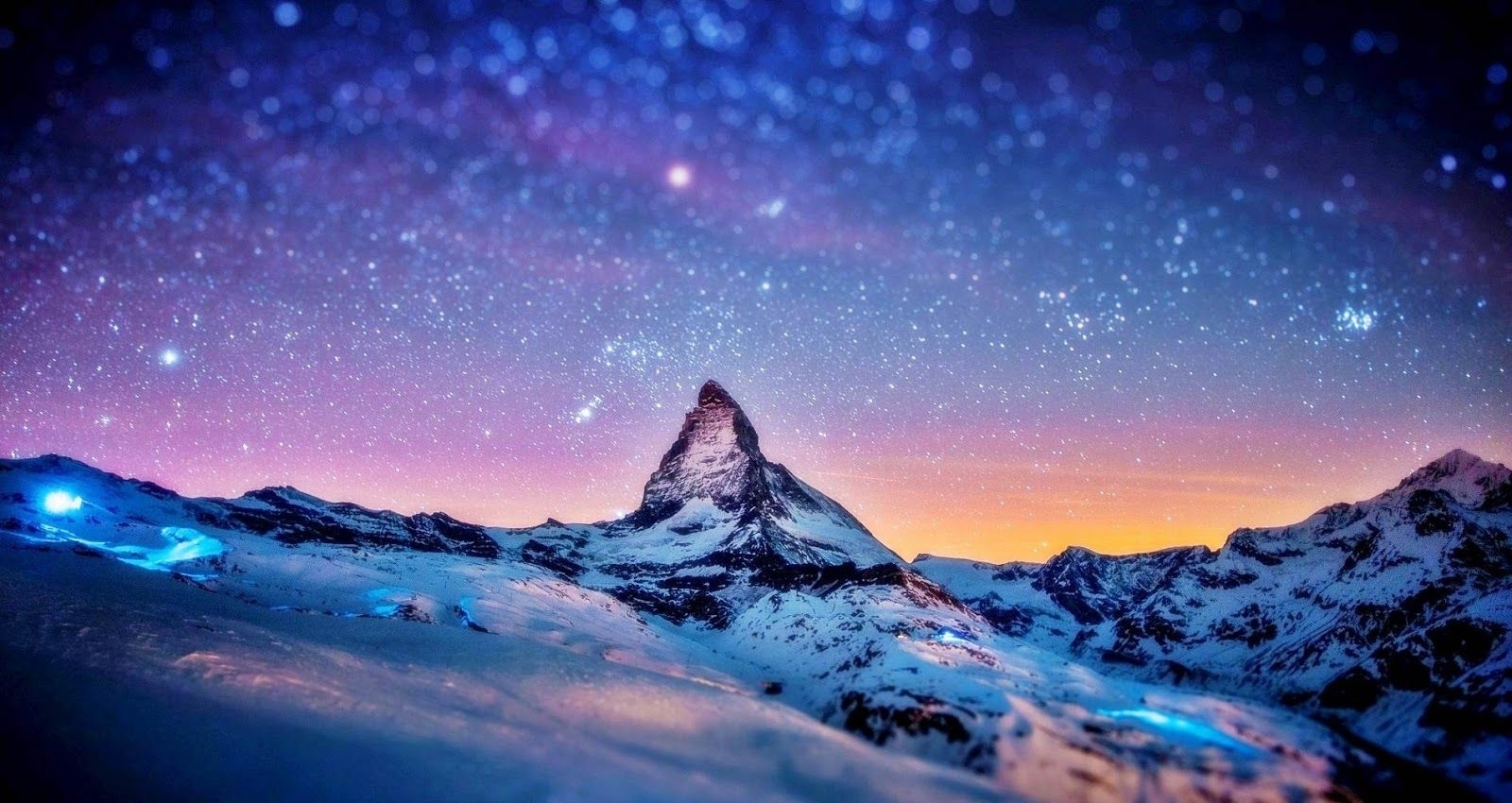 snow mountain wallpaper hd | snow mountain in night | places to