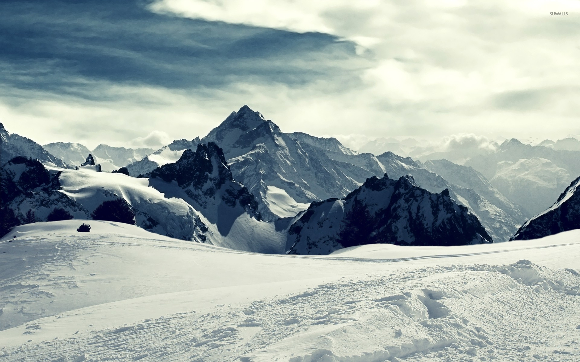 snowy mountains wallpaper - nature wallpapers - #16029