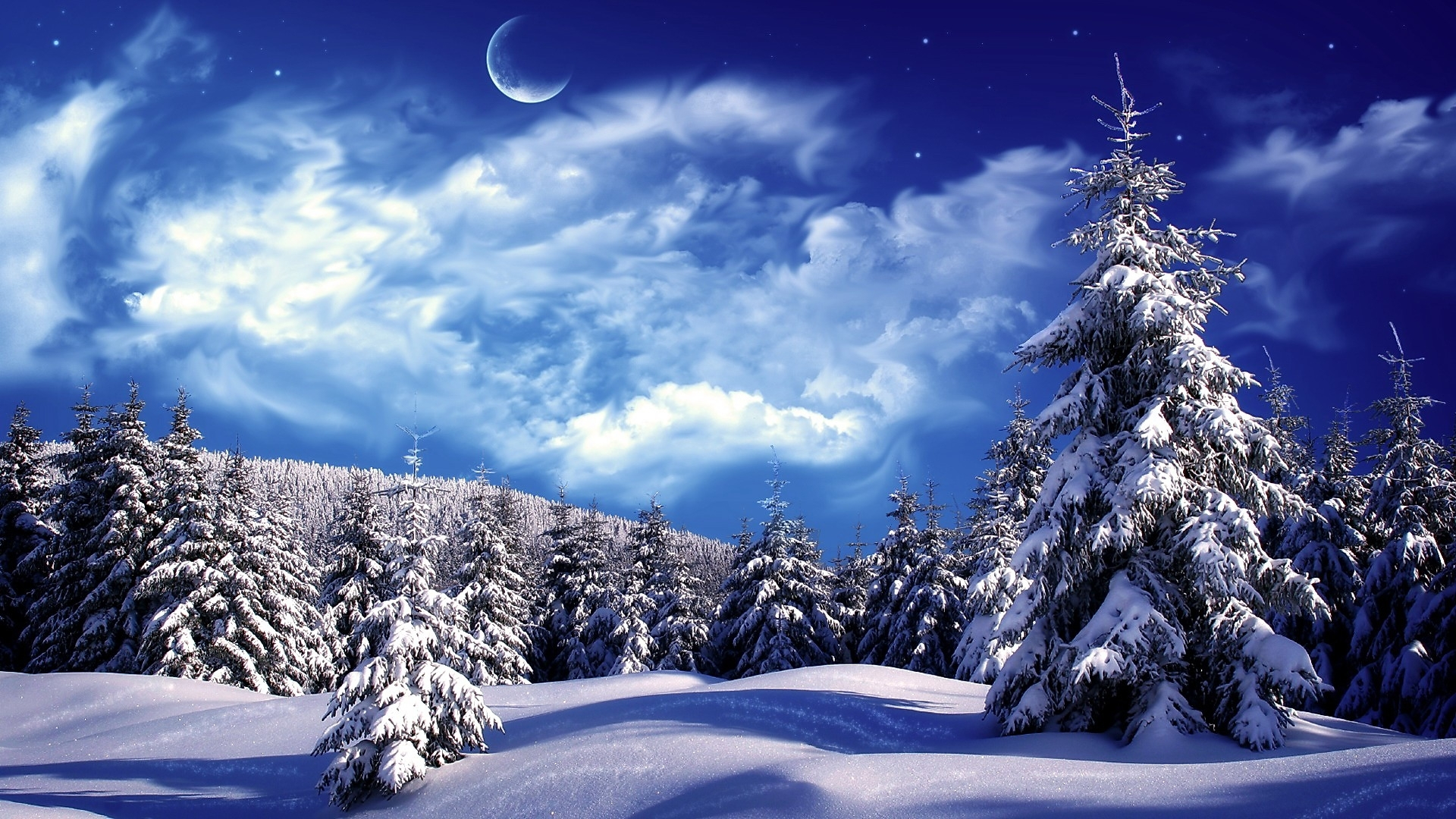 snowy winter scenes wallpaper | snowy wonderland, mountain, scene