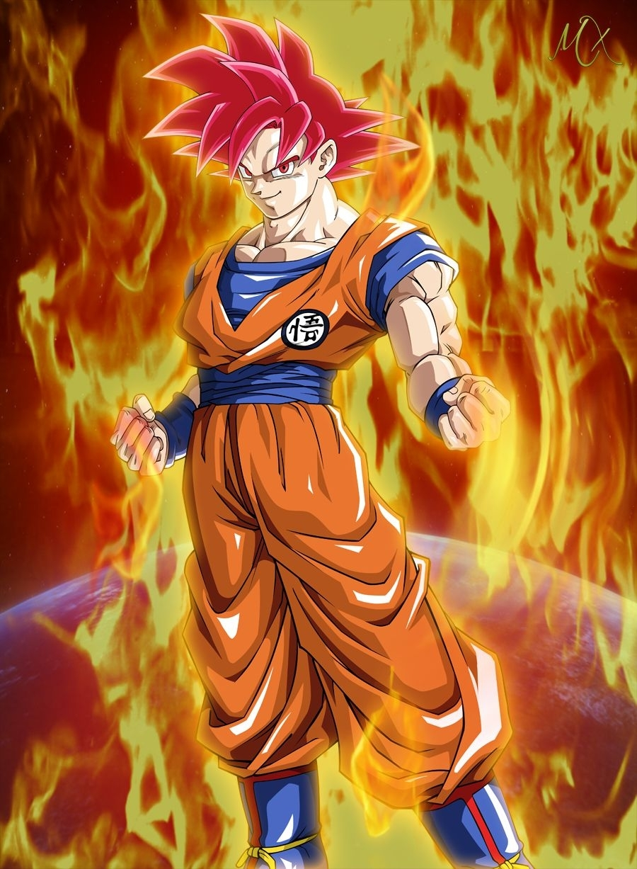 son goku ssj god vs cell - google search | super god form