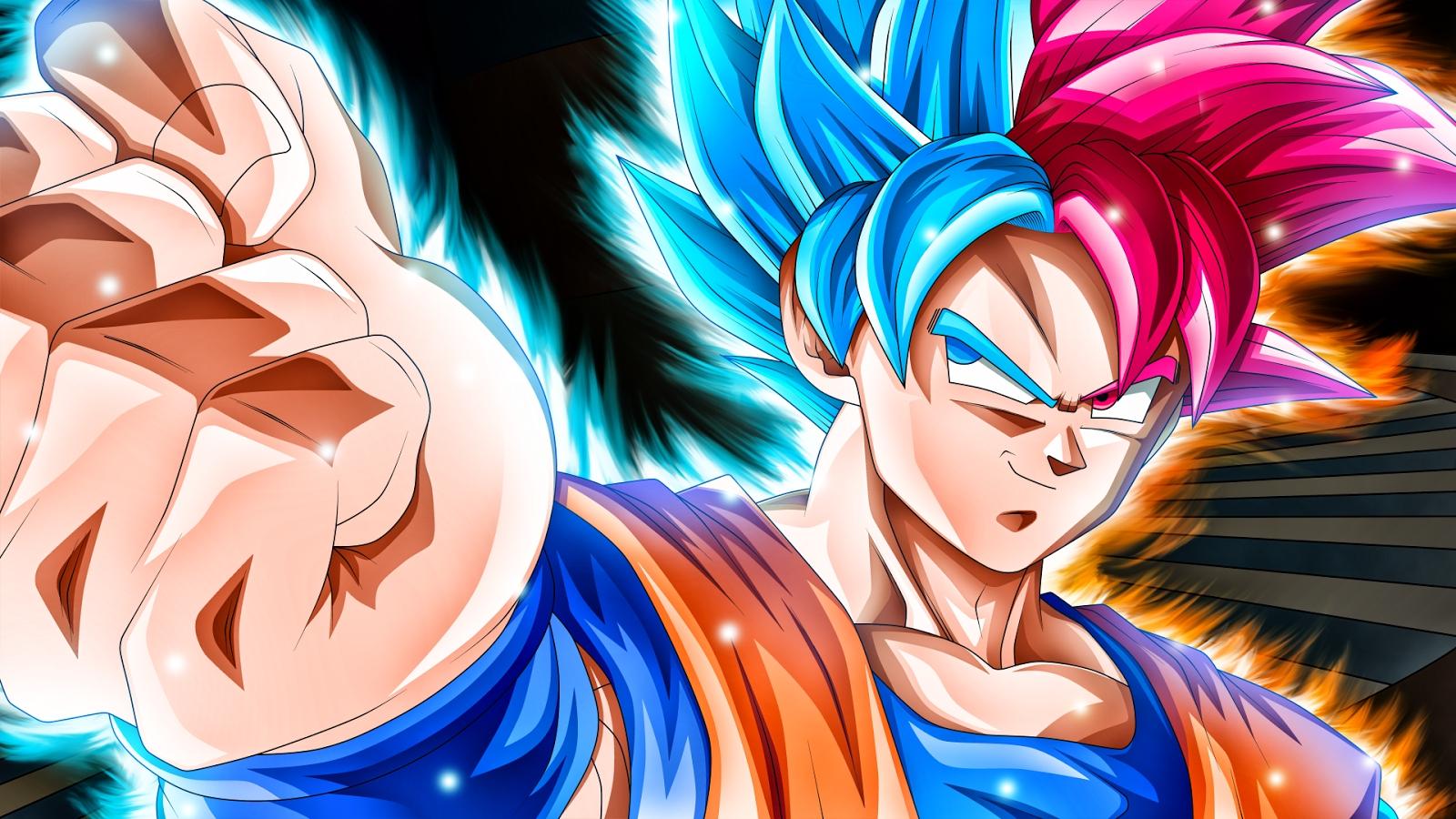 son goku super saiyan god and super saiyan blue wallpaper hd for