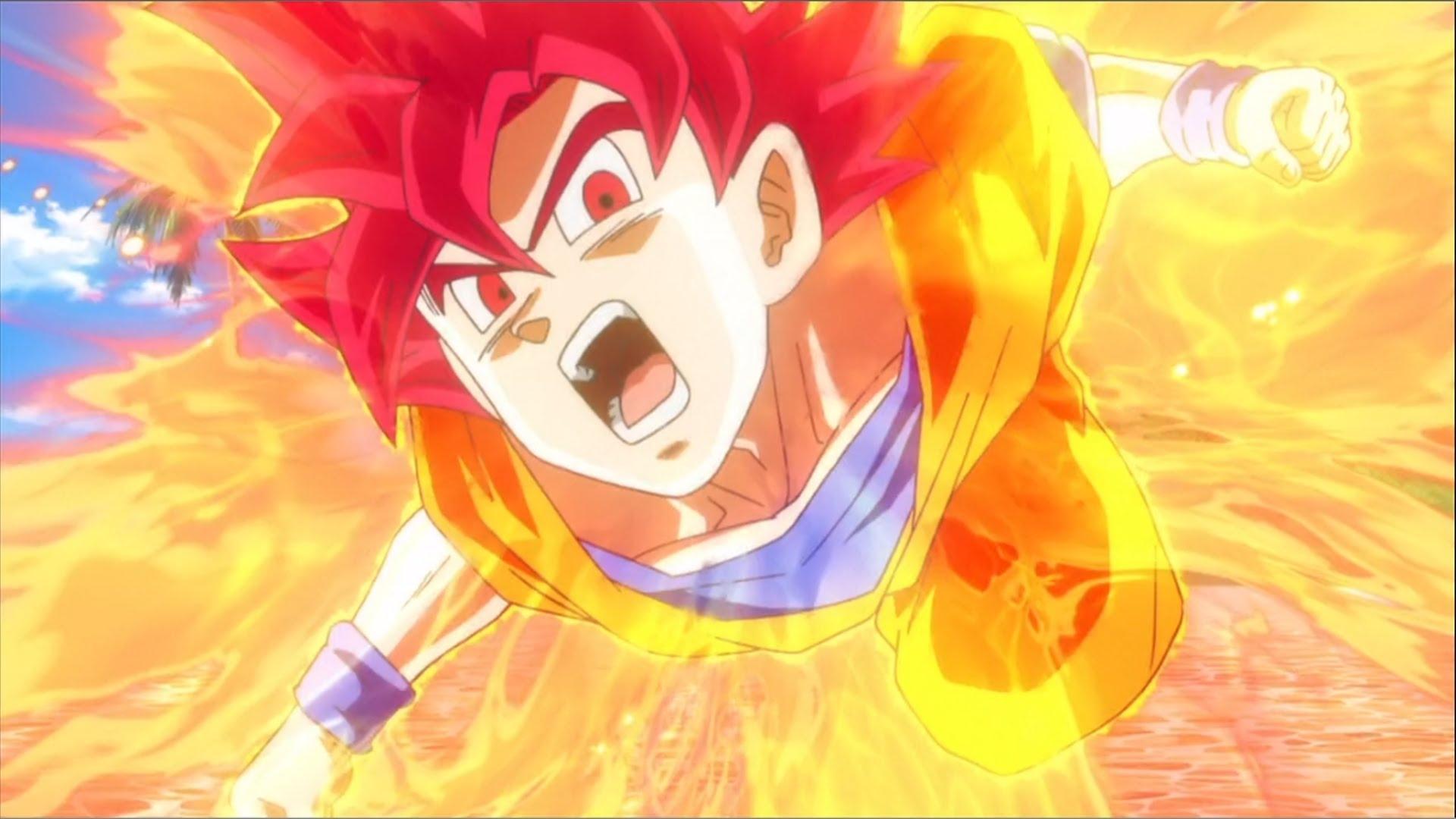 son goku super saiyan god wallpaper | anime | pinterest | goku