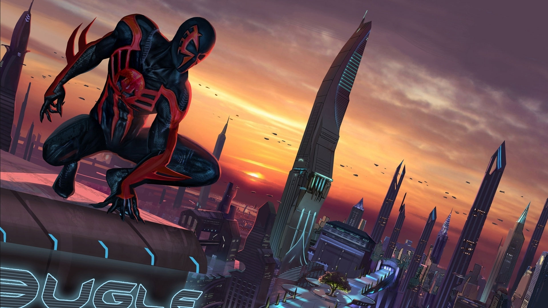 spider-man 2099 full hd wallpaper and background image | 1920x1080