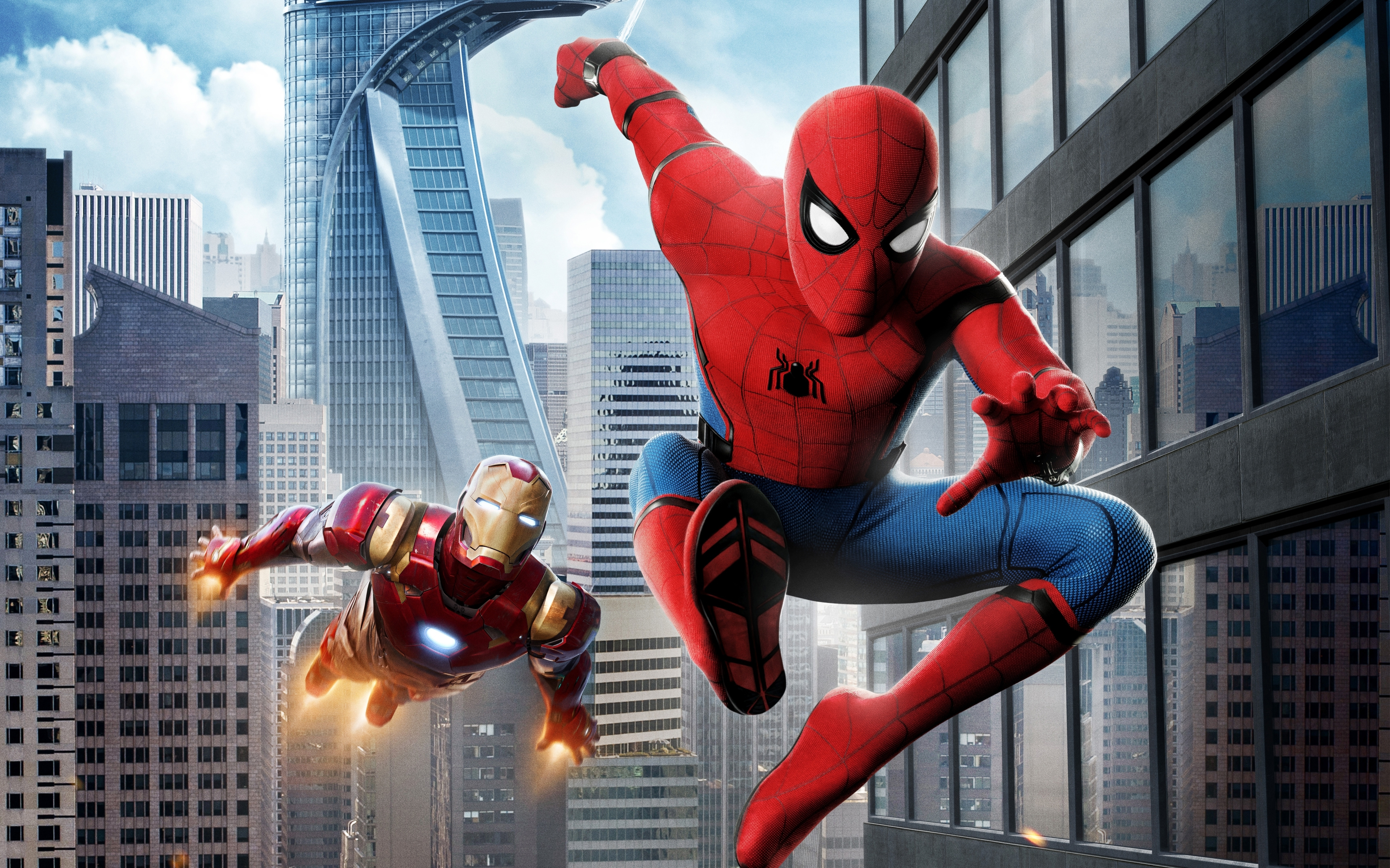 spider man homecoming iron man hd wallpapers   hd wallpapers   id #20611