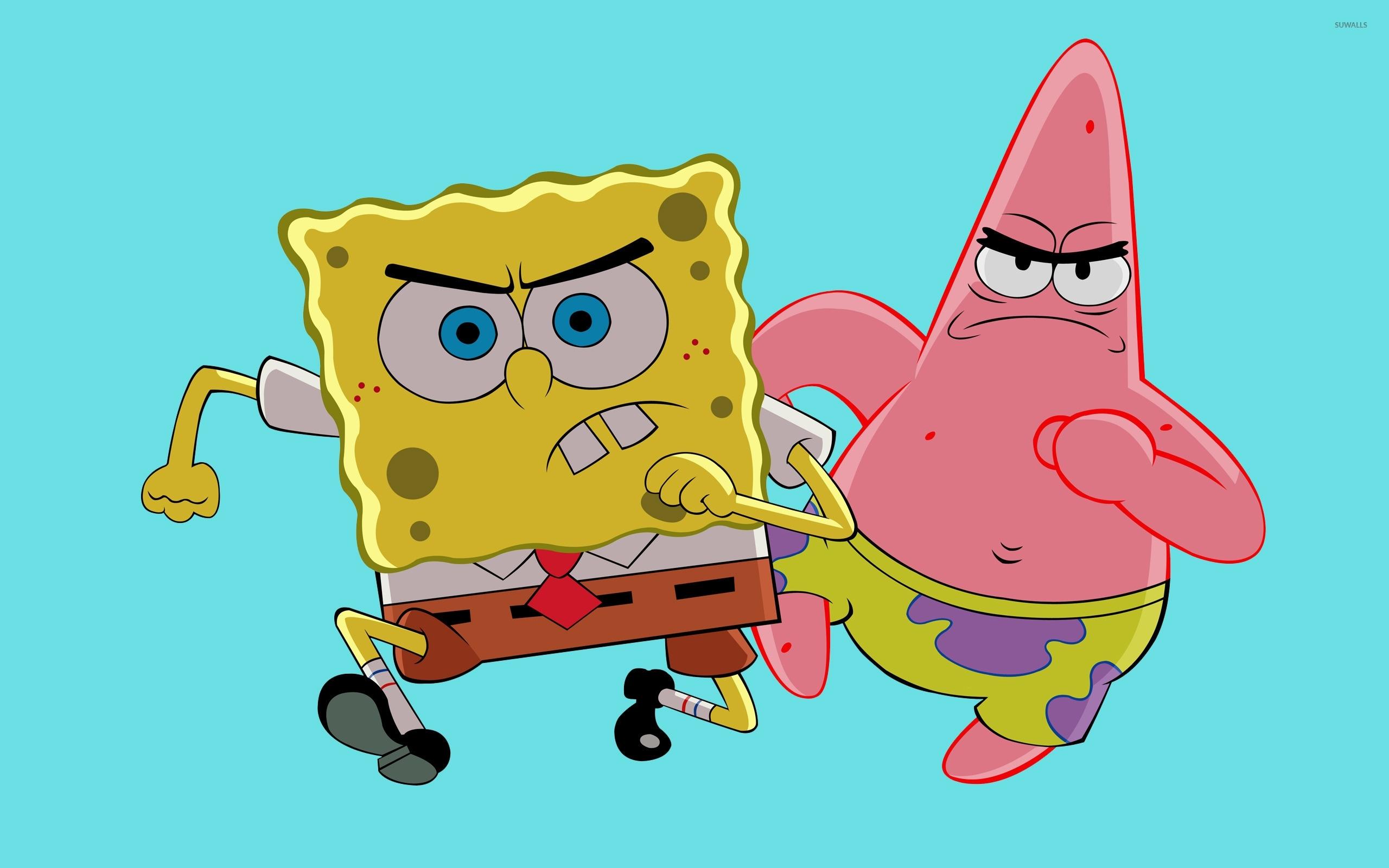 spongebob and patrick wallpaper - cartoon wallpapers - #11497