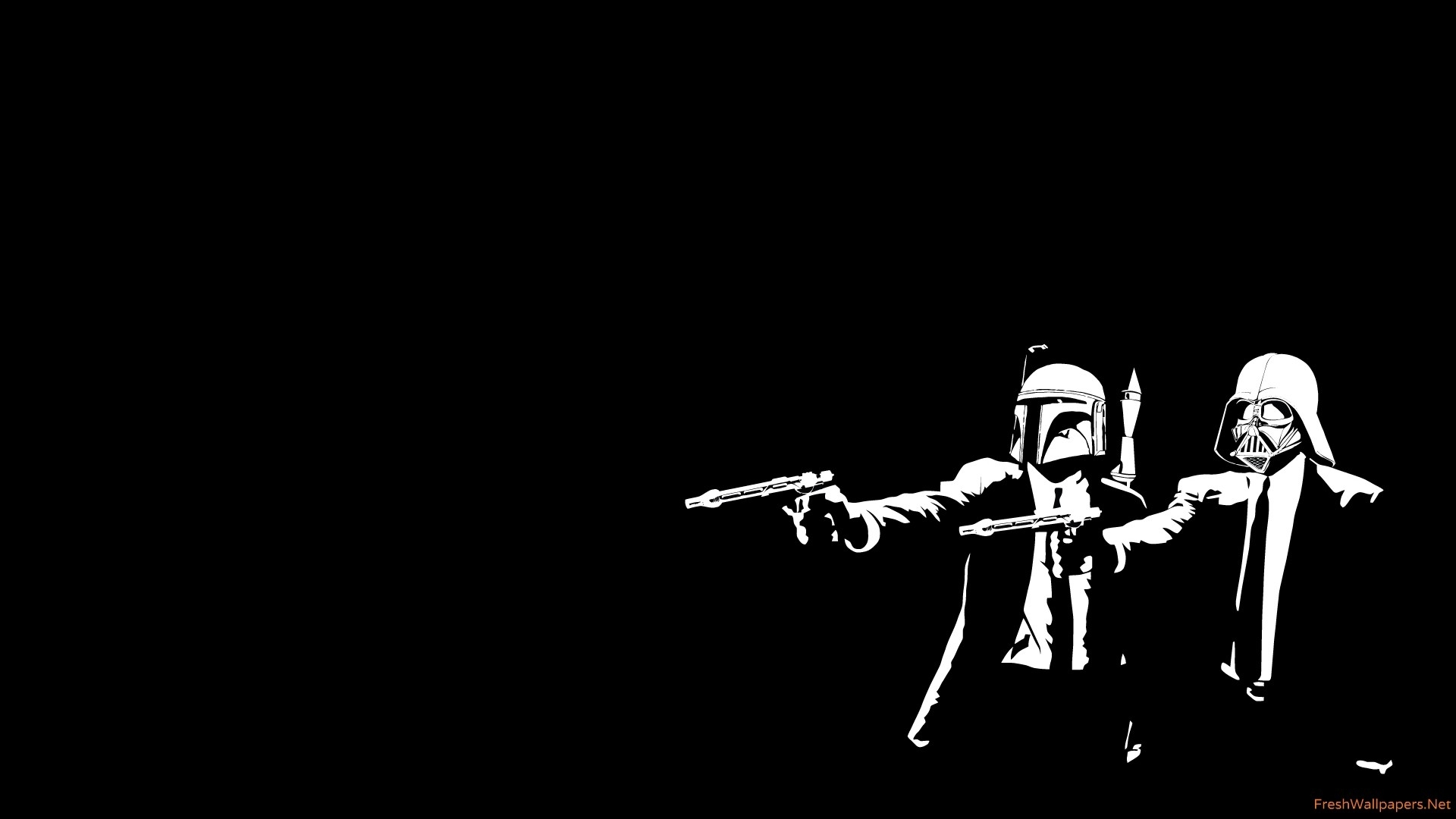 star wars - pulp fiction crossover wallpapers | freshwallpapers