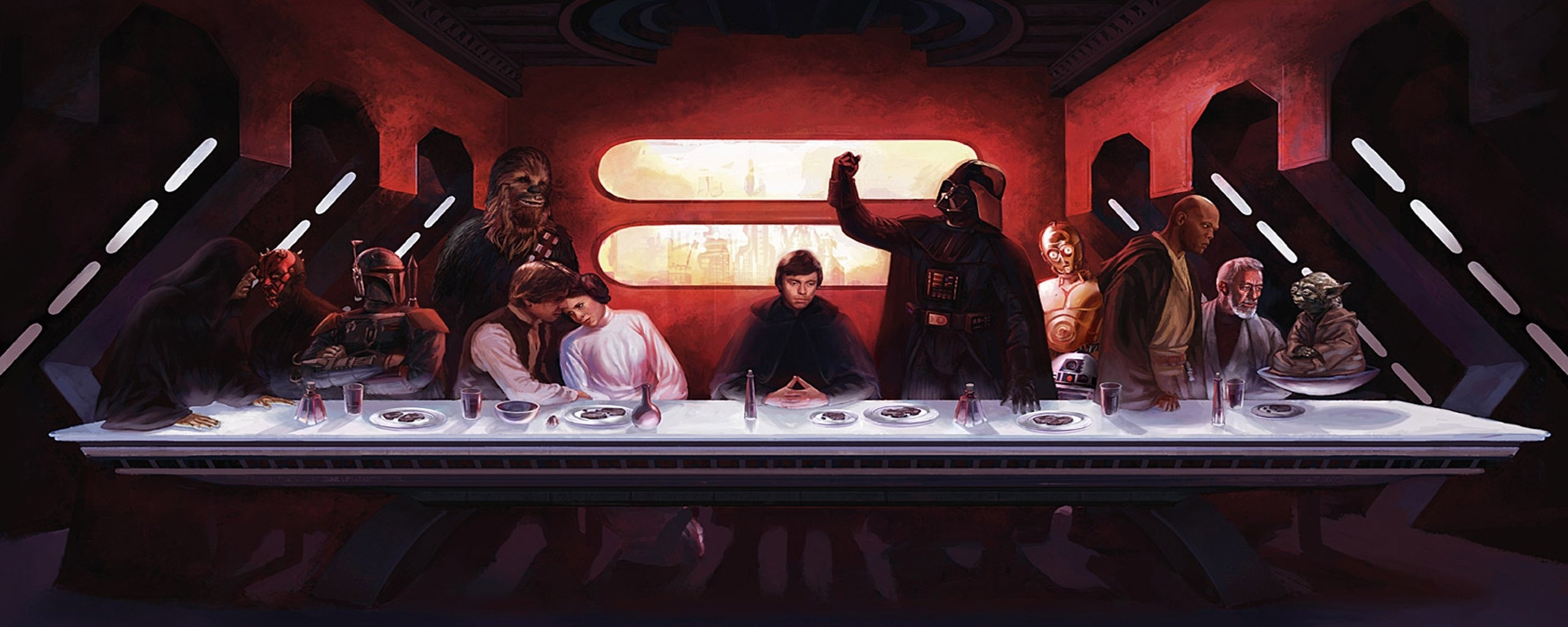 star wars the last supper wallpaper | 2560x1024 | 257769 | wallpaperup