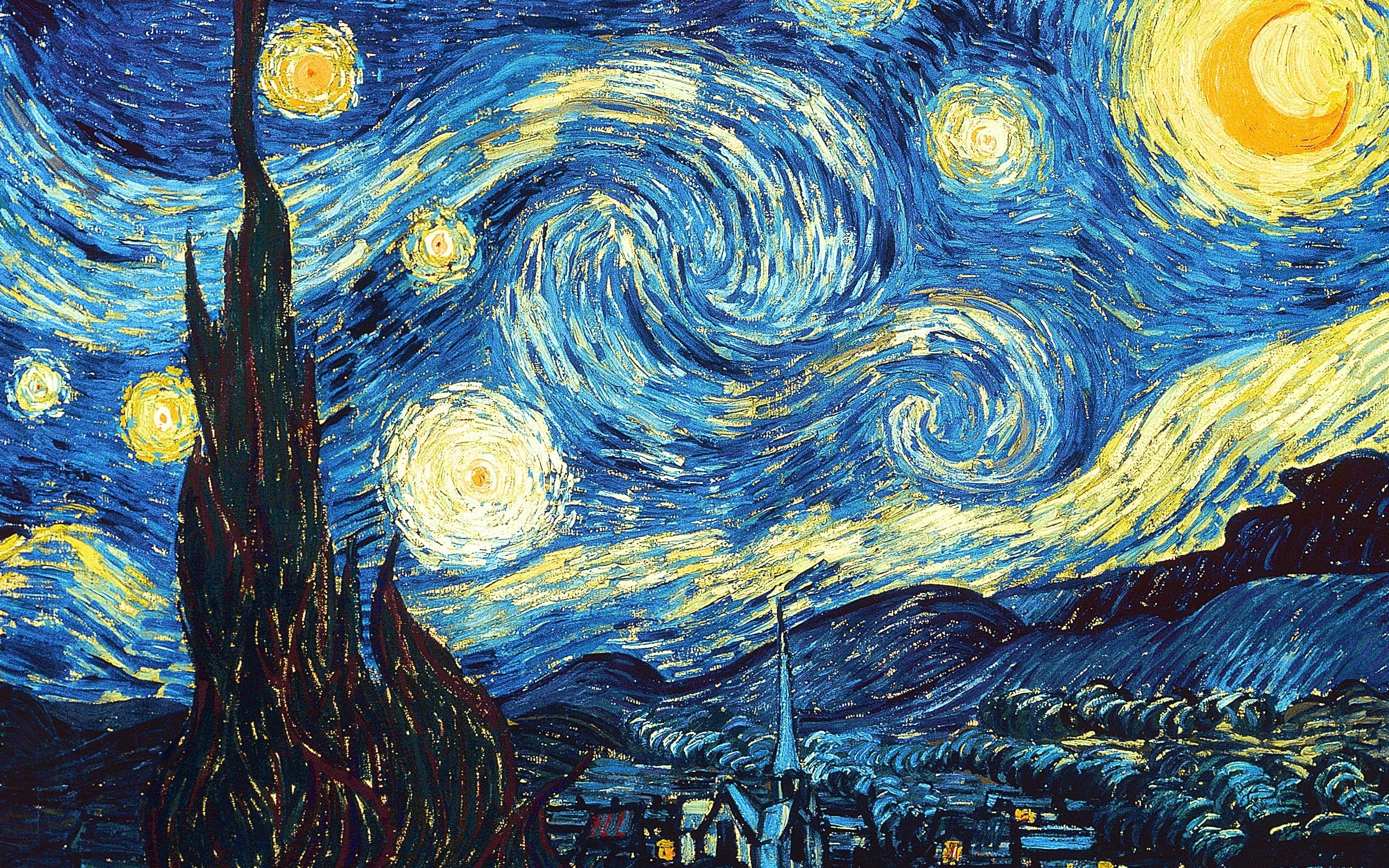 starry nightvincent van gogh full hd fond d'écran and arrière