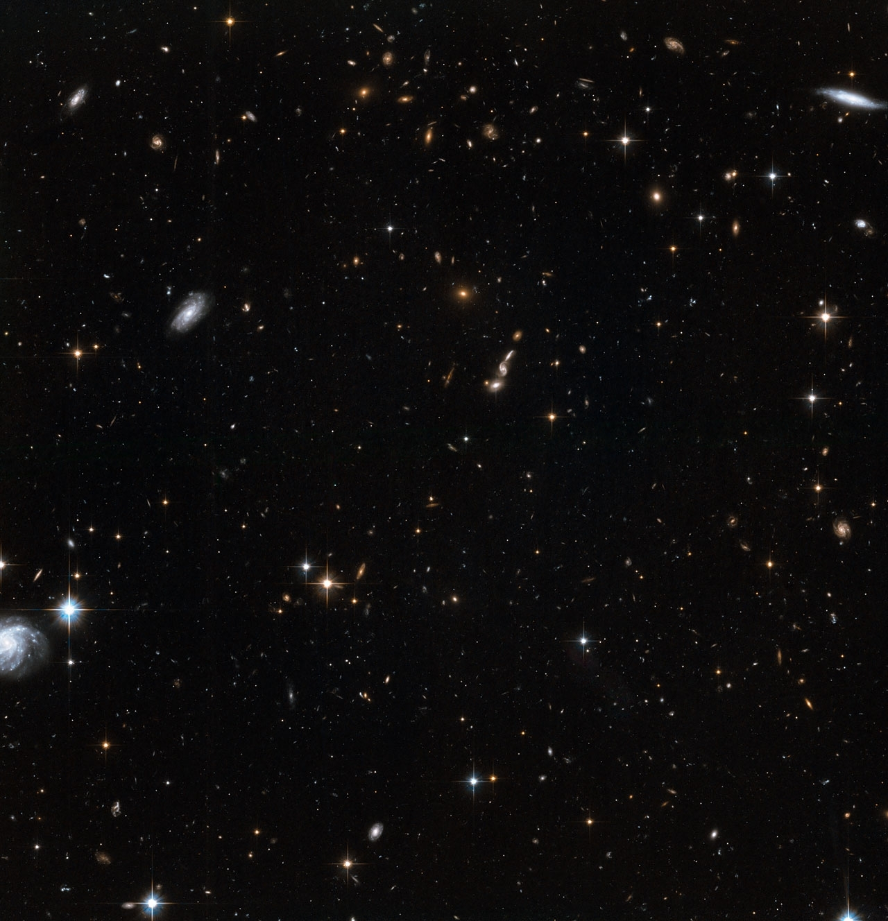 stars in the andromeda galaxy's halo with background galaxies (2