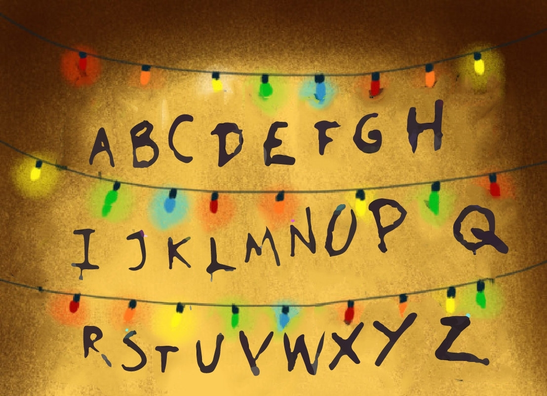 stranger things alphabet computer wallpaper | cool wallpaper hd
