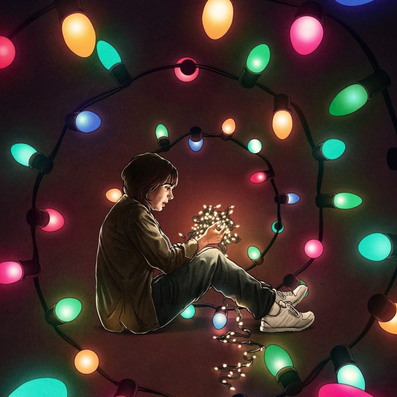 10 Best Stranger Things Lights Wallpaper FULL HD 1080p For PC Background 2020 free download stranger things colorful lights artwork netflix wallpapers hd 800x800