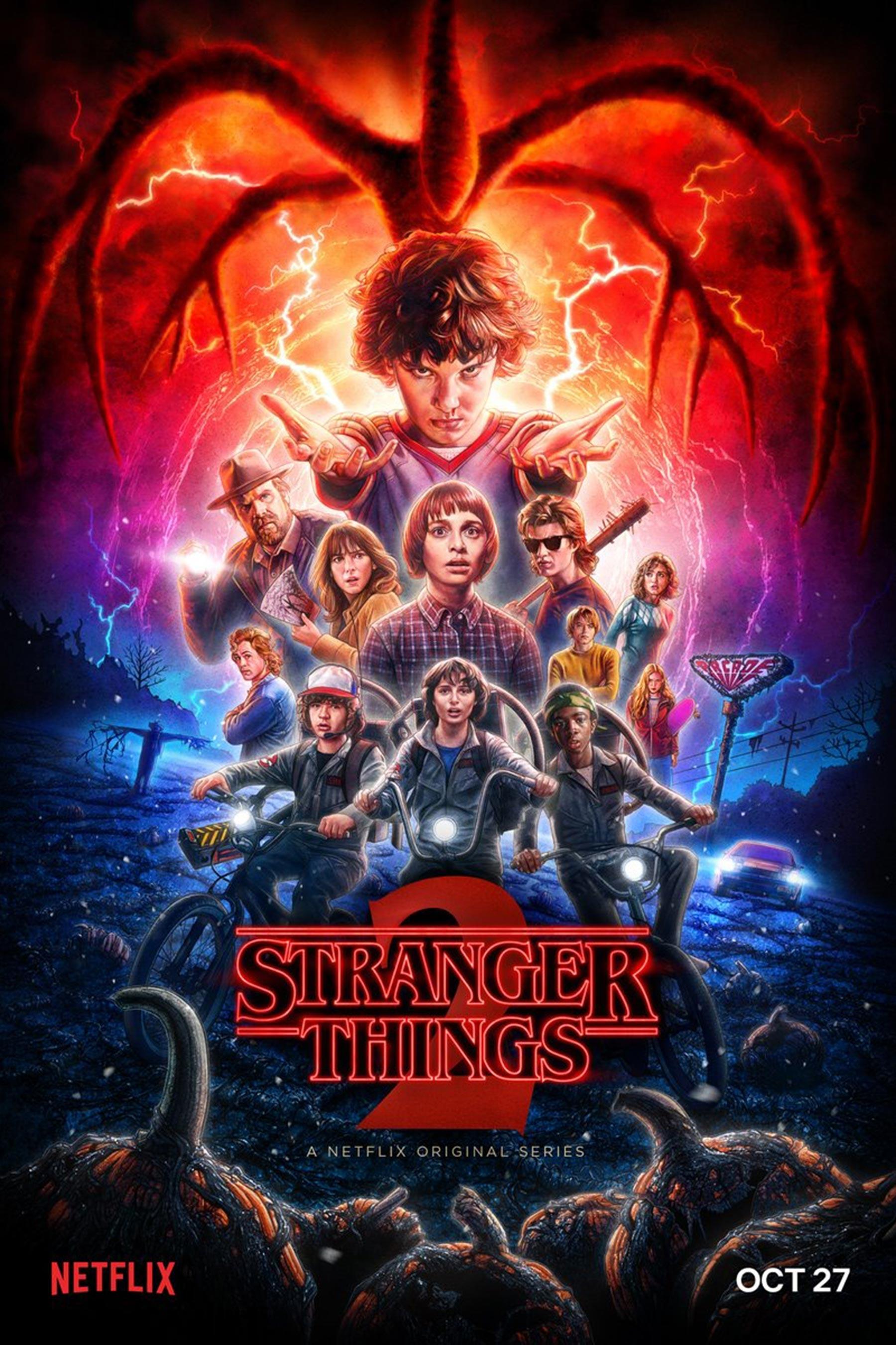 stranger things season 2 gets halloween-themed poster | ew
