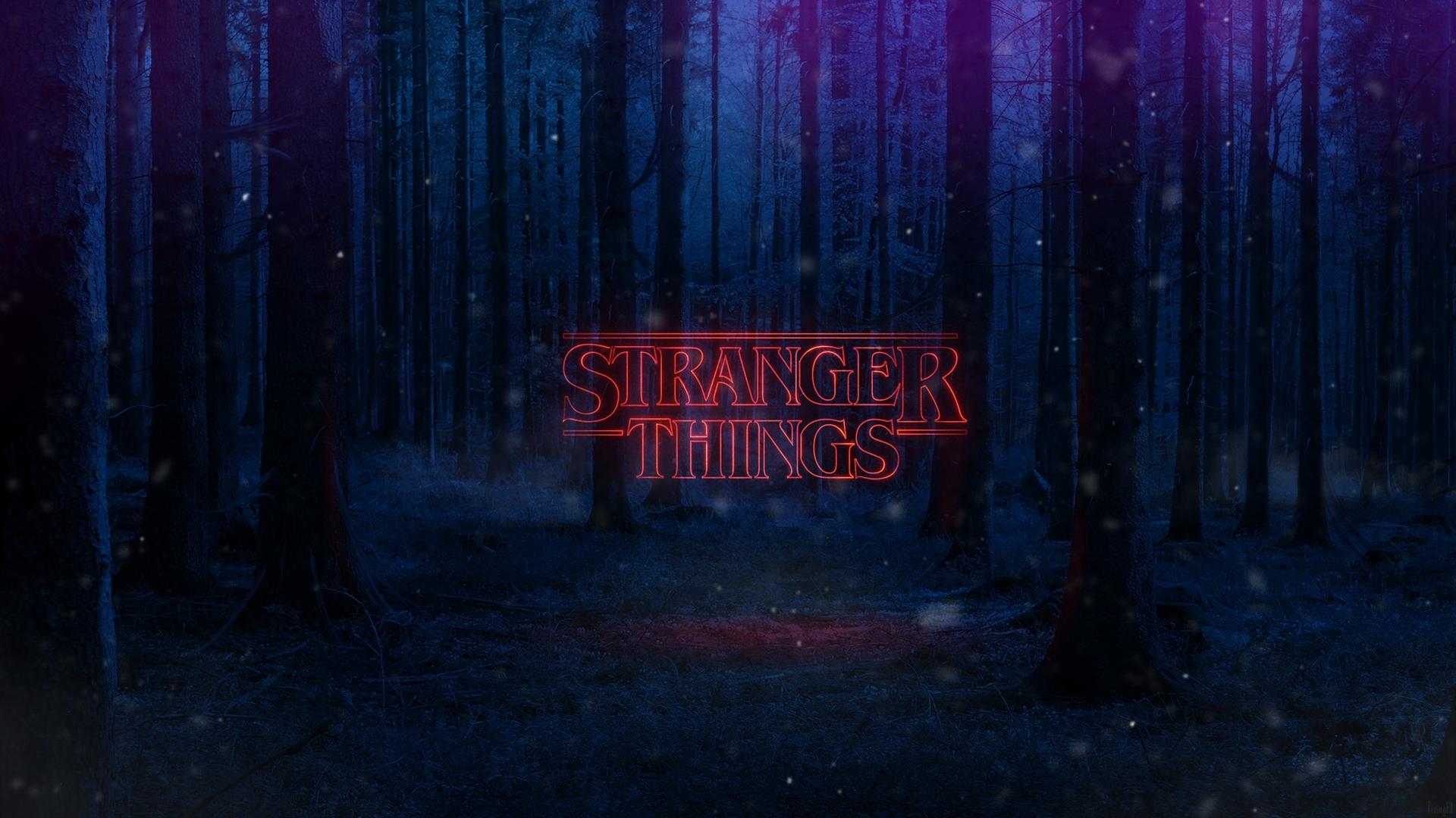 stranger things text poster, full hd wallpaper