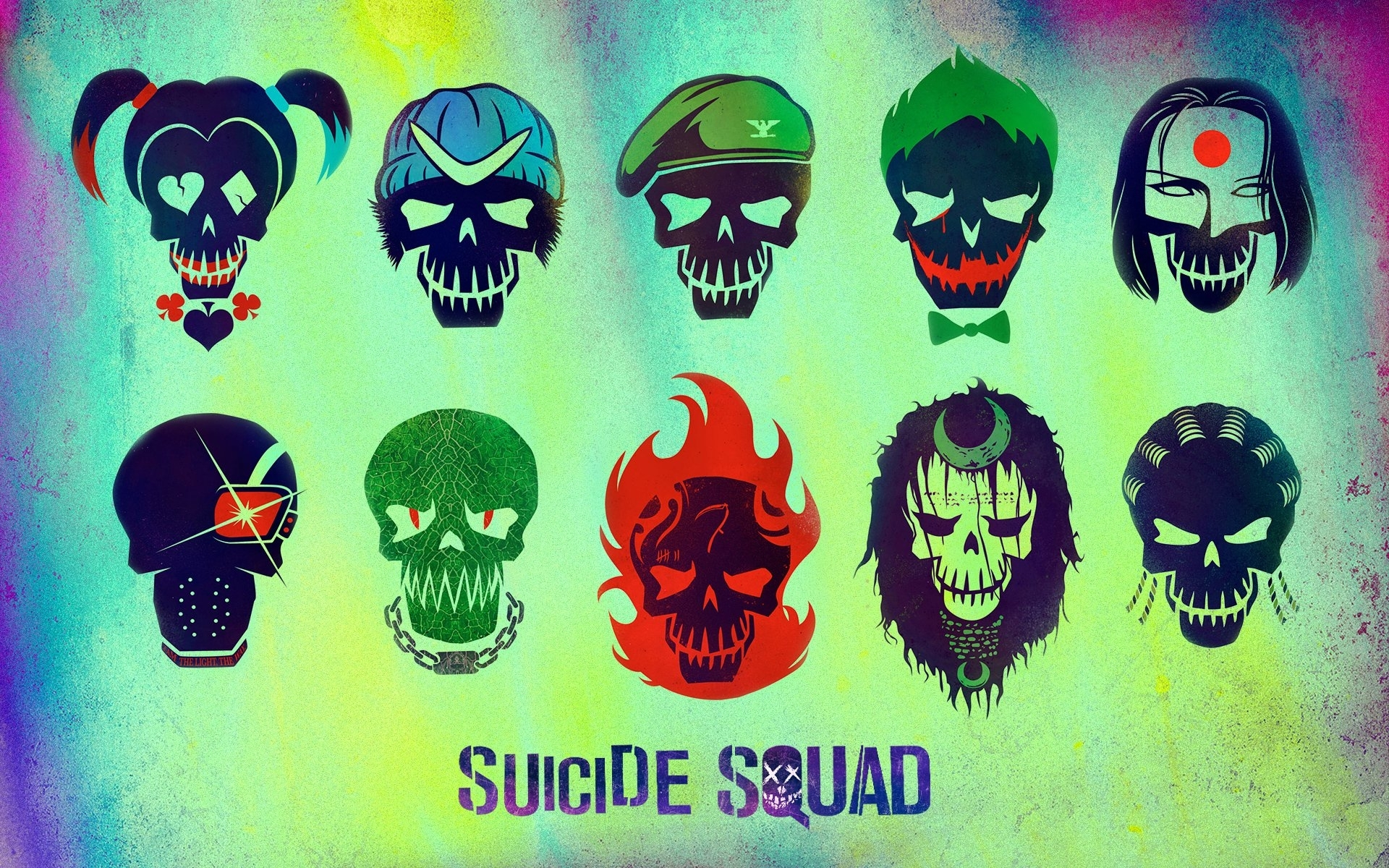 suicide squad characters full hd fond d'écran and arrière-plan