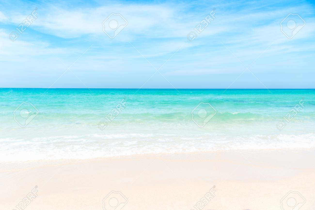 summer beach. empty sea and beach background with copy space