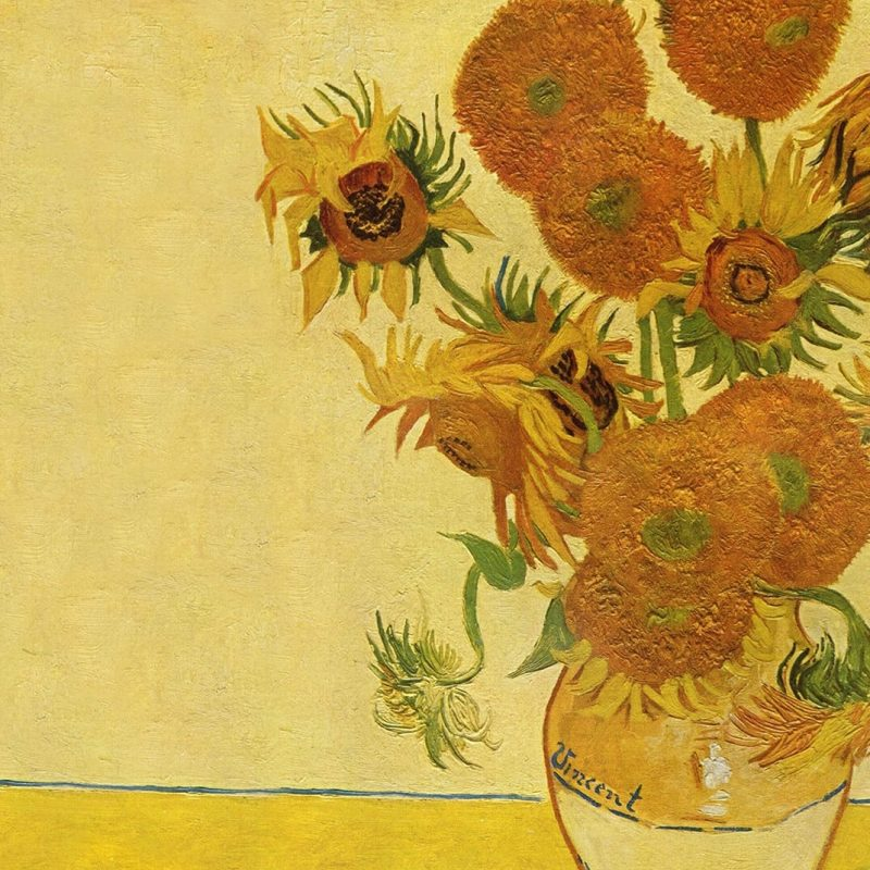 10 Best Van Gogh Sunflowers Wallpaper FULL HD 1080p For PC Background 2018 free download sunflowersvan gogh art wall mural muralswallpaper co uk 800x800