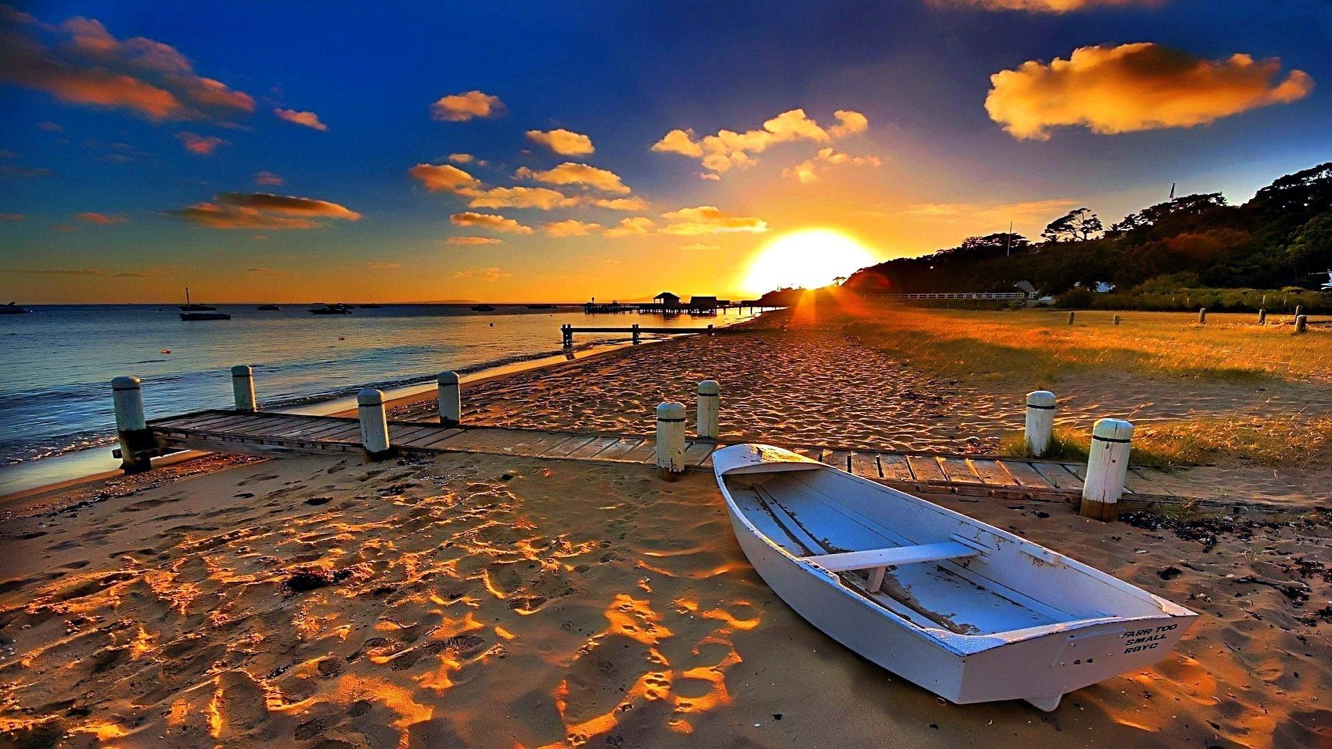 sunset on the beach wallpaper | wallpaper studio 10 | tens of