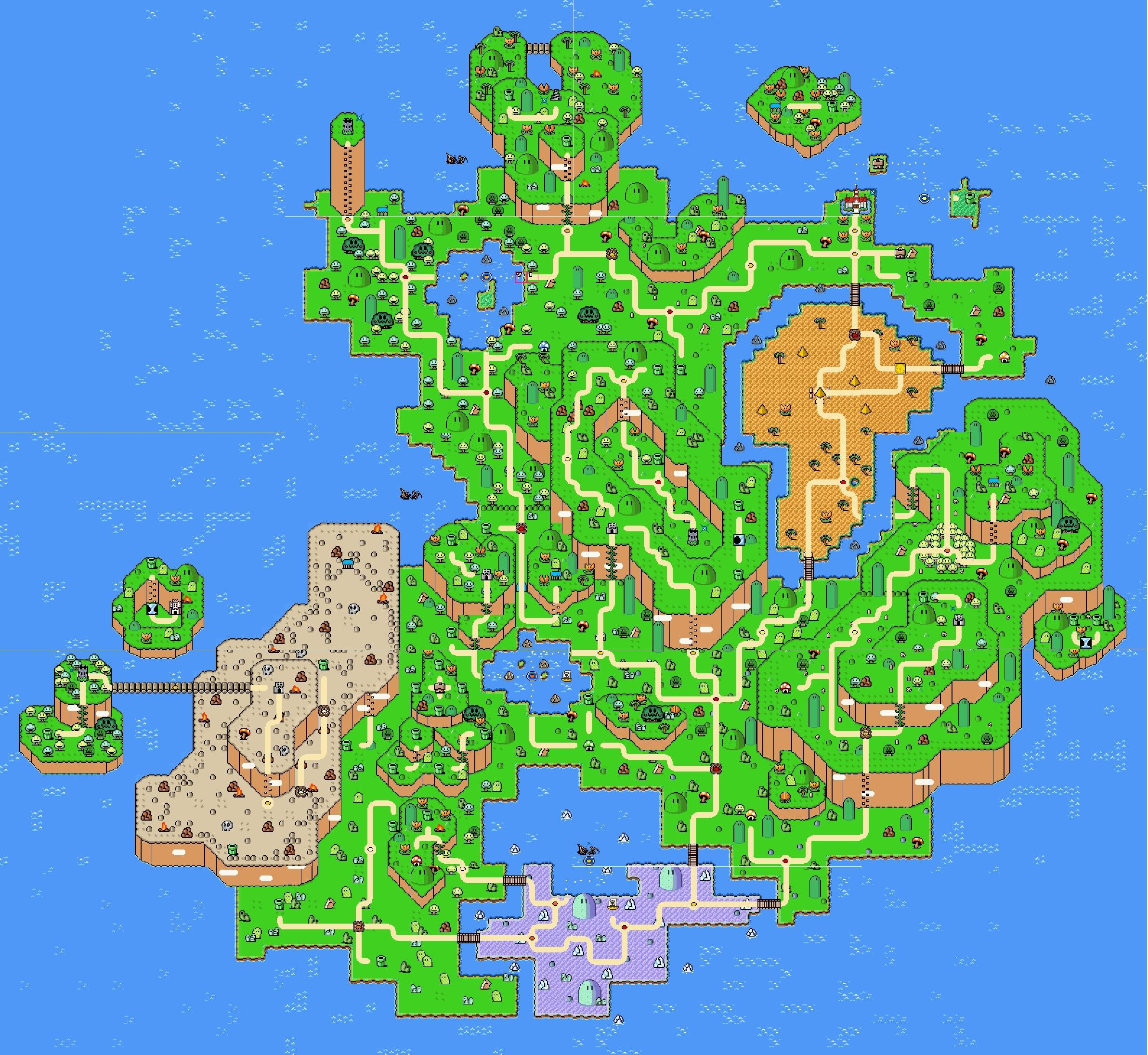 super mario world global map wallpaper | desktop wallpapers